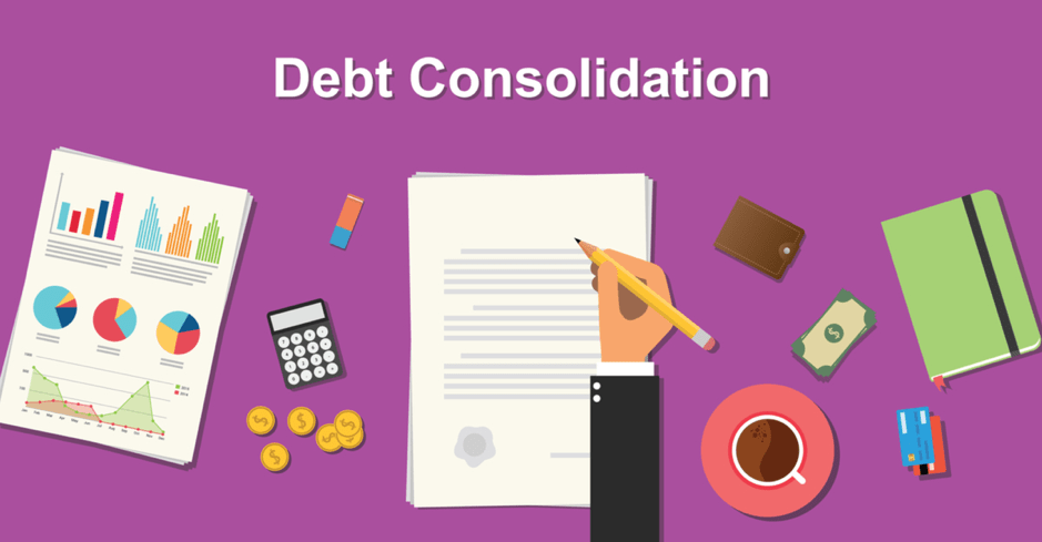 Illustration of debt consolidation